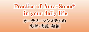 Practice of Aura-Soma in your daily life オーラソーマシステムの実習・実践・熟練